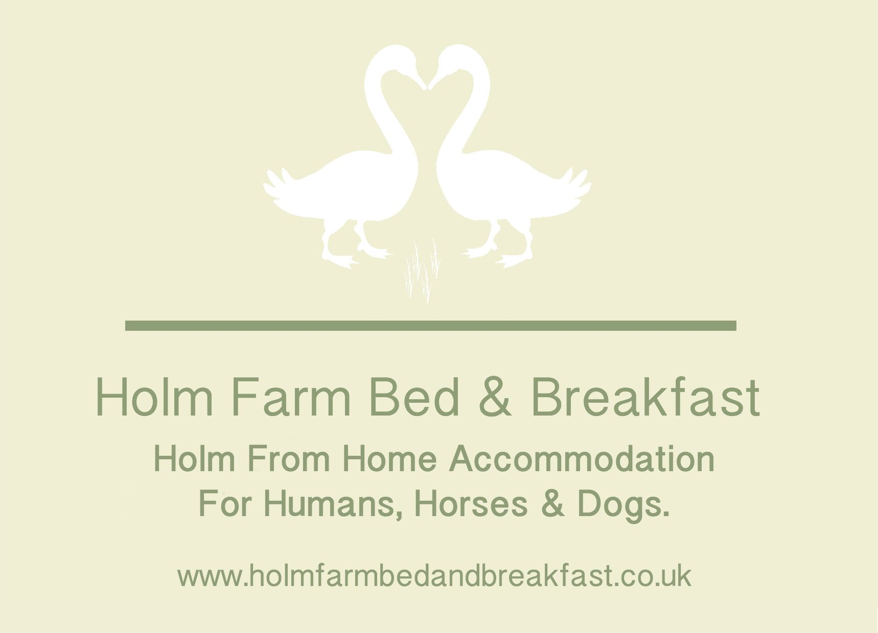 Front of Room Card for Holm Farm B&B