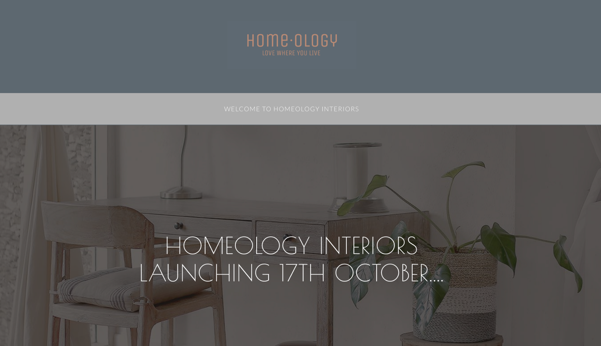 Homeology Interiors Holding page