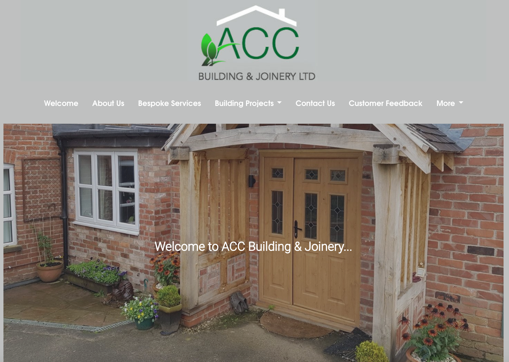 ACC Building & Joinery Tablet view