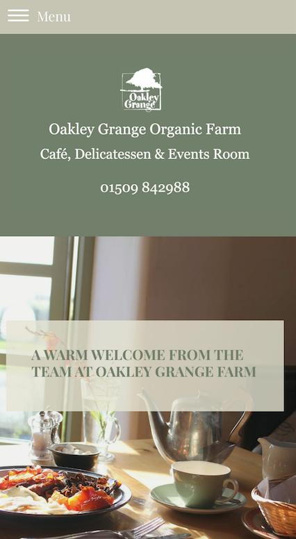 Oakley Grange Farm Mobile view