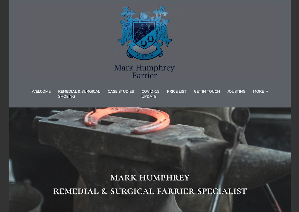 Mark Humphrey Farrier website