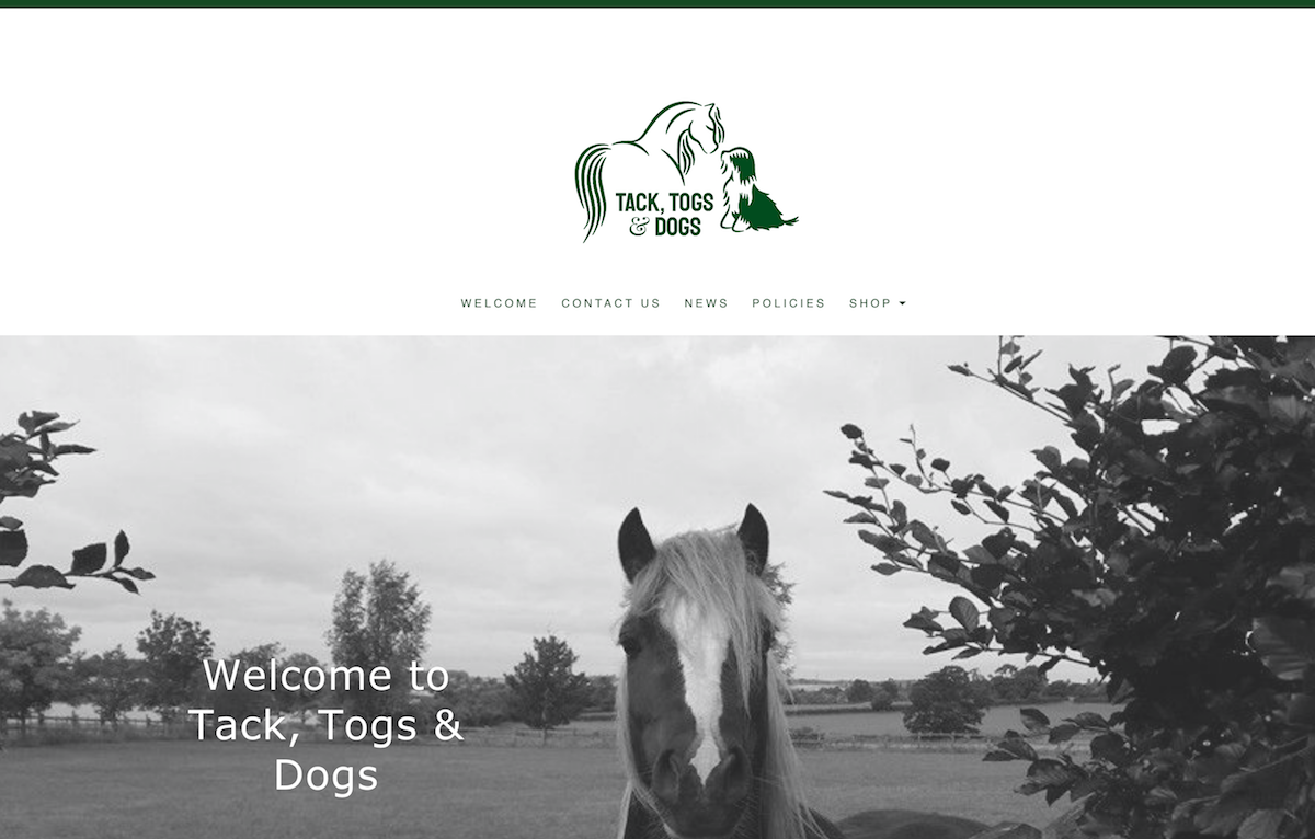 Tack Togs & Dogs Website