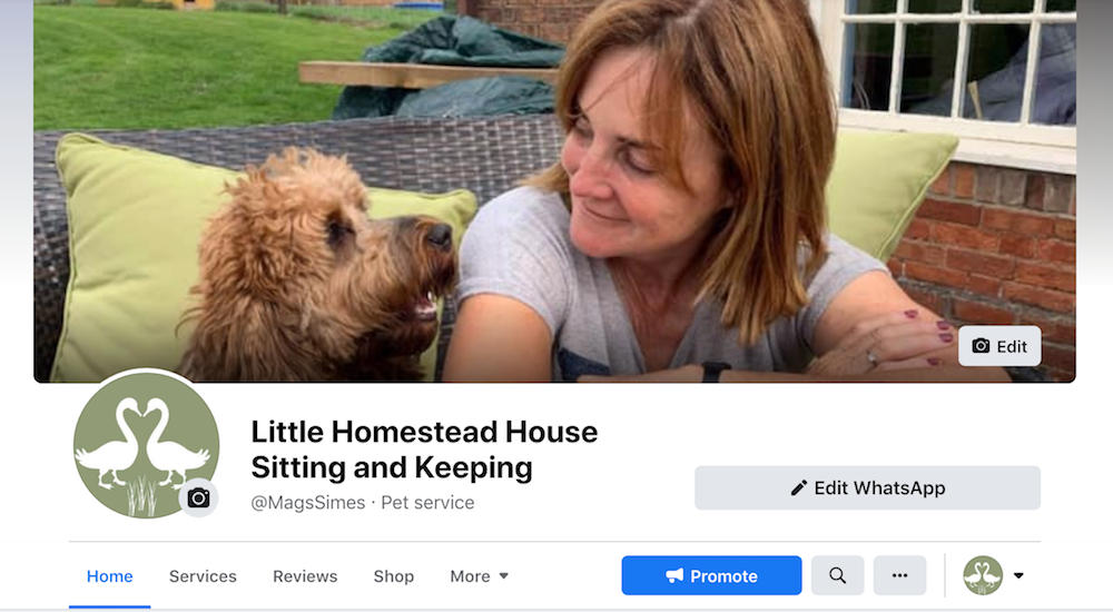 Little Homestead Sitting & Keeping Facebook Page