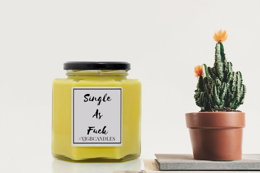 Single As Fuck Candle