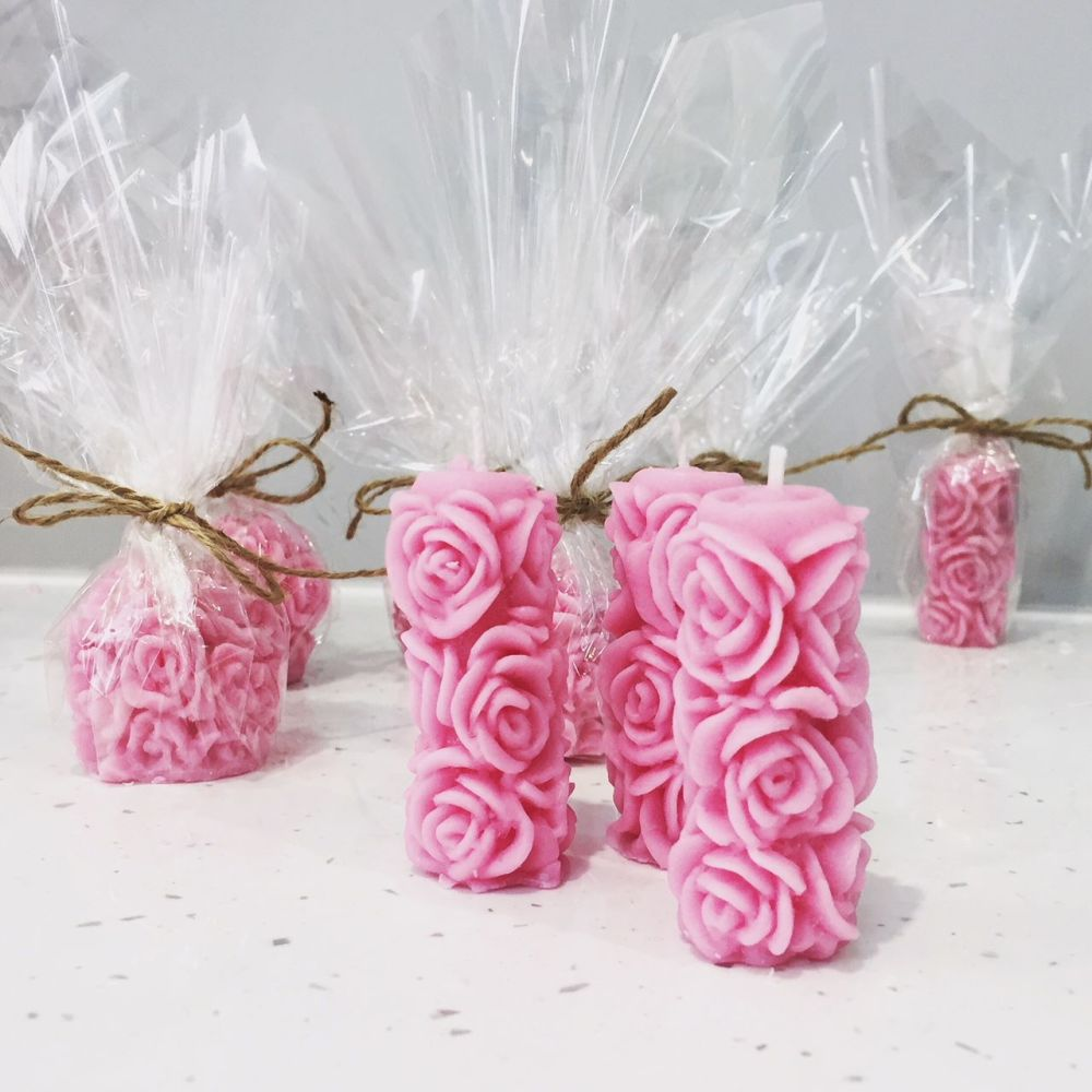 Rose Pillar Wedding Favour