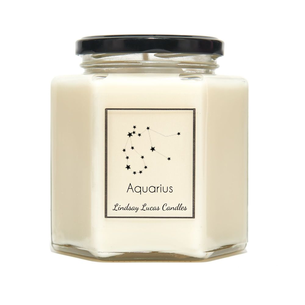 Aquarius Constellation Candle
