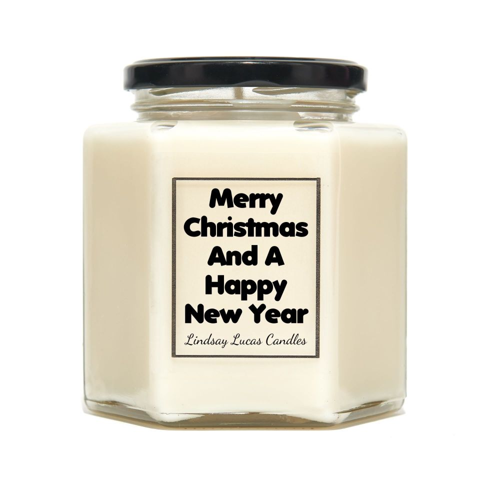 Merry Christmas And A Happy New Year Scented Candle