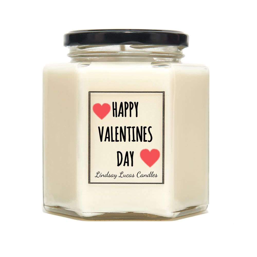 Happy Valentines Day Scented Candle