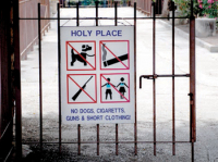 Holy Place sign, Capernaum