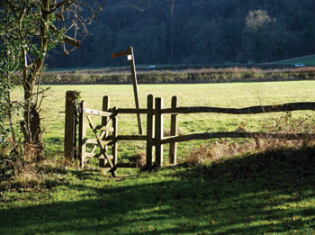 Gate at Newtimber, West Sussex