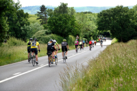 Uh oh! London to Brighton Bike Ride approaching Ditchling Beacon