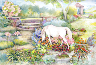 'There's a unicorn in our garden!'