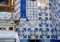 Tiles in the church at Ein Karem