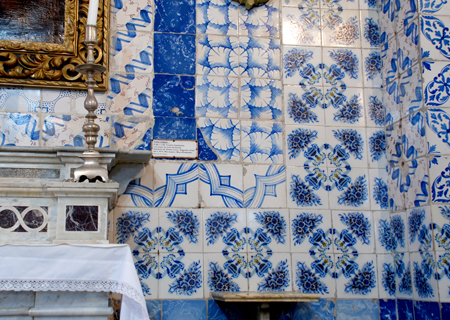 Tiles in the church at Ein Karem