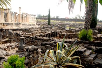 Roman era ruins at Capernaum