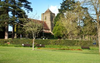 St Wilfrid's Church, Haywards Heath from Victoria Park