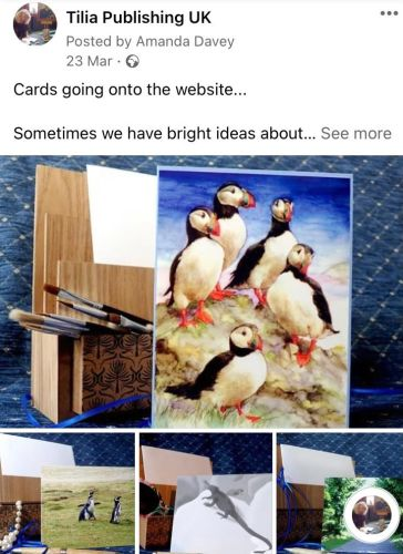 Social media post about cards