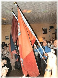 Parading the flags