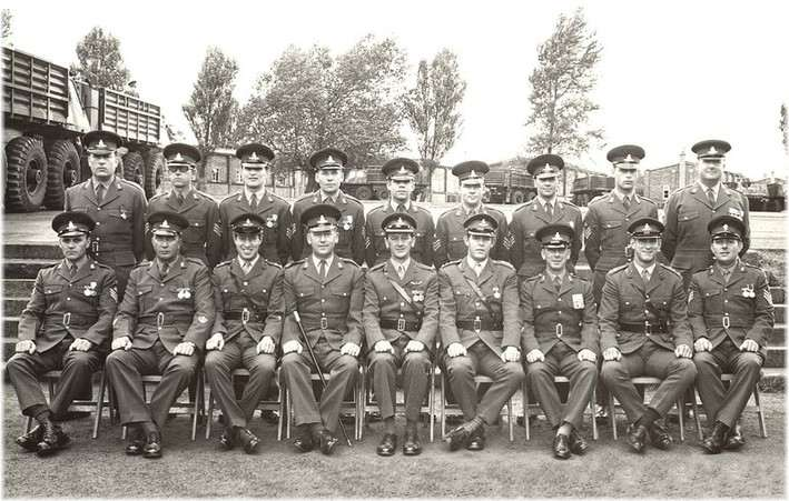No12 Officers and SNCOs at Barford Camp c1969/70