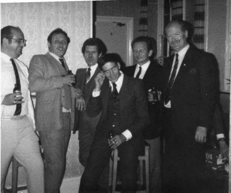 No17 Andy Munn,Tony Bridge, Brian Fisher, ?, Ron Hewitt, Jim White.