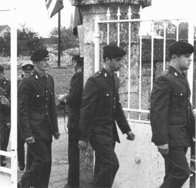 Leading into the Néry communal cemetery 1974