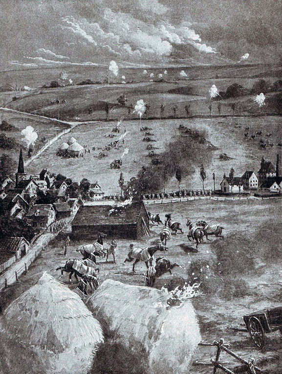 sketch of battle at Néry