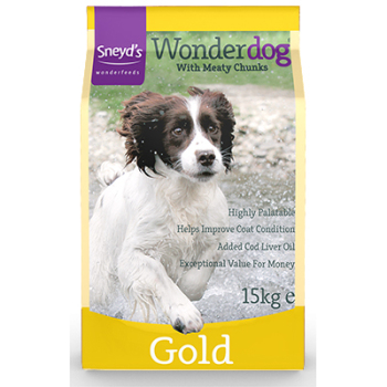 Sneyd's Wonderdog Dog Food - Gold Dry - 15kg Bag