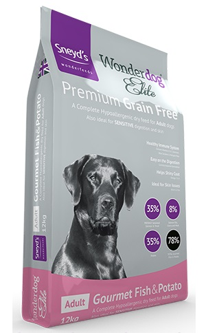 <!-- 012 --> Sneyds Elite Hypoallergenic Free Fish & Potato 12kg Dog Food