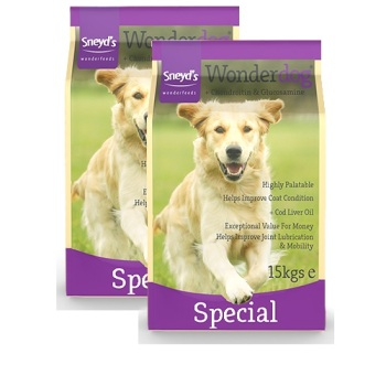 Sneyd's Wonderdog Dog Food - Special Dry - 2 x 15kg Bags Delivery Inclusive