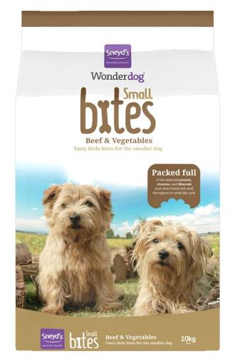 <!-- 00 -->Sneyd's Wonderdog Small Bites 10kg Tasty Beef & Vegetable - For Small Dogs