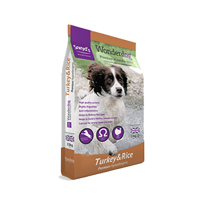 <!-- 008 -->Wonderdog Premium Turkey & Rice – Hypoallergenic Dog Food 15kg