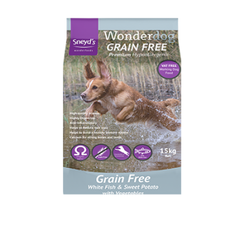 Sneyds Wonderdog Grain Free White Fish & Sweet Potato 15kg