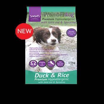 Sneyds Wonderdog Premium Hypoallergenic Duck & Rice 15kg