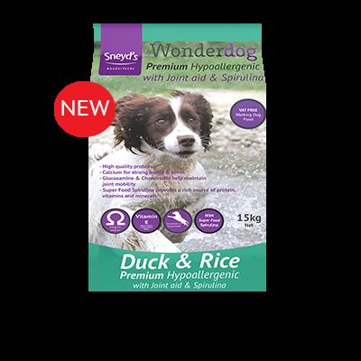 Wonderdog Premium Hypoallergenic Duck & Rice 15kg