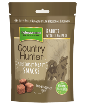 Natures Menu Country Hunter Freeze Dried Dog Treats 50g - Rabbit