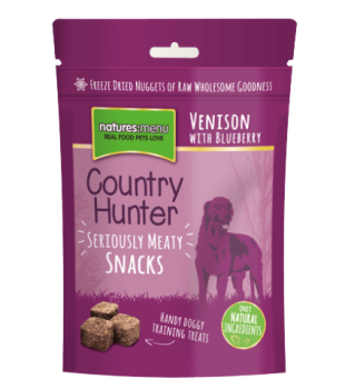 Natures Menu Country Hunter Freeze Dried Dog Treats 50g - Venison with Blueberries
