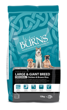 Burns large breed chicken & brown rice 15kg dog food