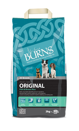 Burns original fish and brown rice 15kg dog food