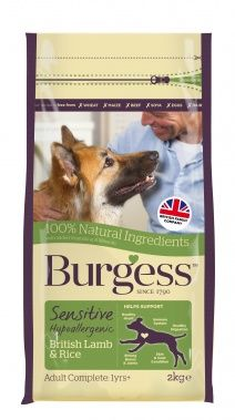Burgess Sensitive Dog Food Lamb & Rice 12.5kg
