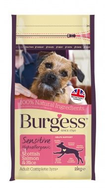 Burgess Sensitive Dog Food Salmon & Rice 12.5kg