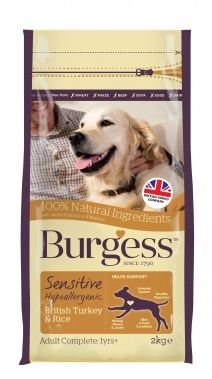 Burgess Sensitive Dog Food Turkey & Rice 12.5kg