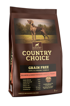 Gelert Country Choice Grain Free Salmon and Sweet Potato Dog Food 12kg