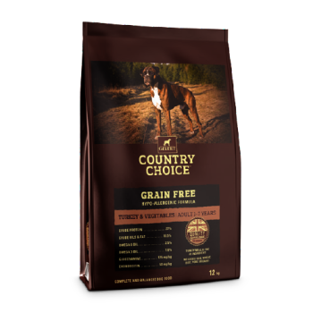 Gelert Country Choice Grain Free Turkey and Veg Dog Food 12kg