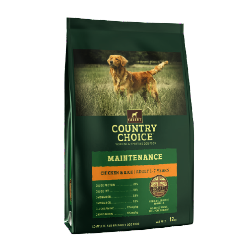 Gelert Country Choice Maintenance Chicken and Rice Dog Food 12kg