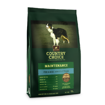 Gelert Country Choice Maintenance White Fish and Rice Dog Food 12kg
