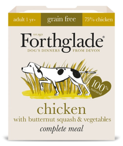 Forthglade Complete Meal Grain Free Chicken with butternut squash & Vegetables 7 x 395g