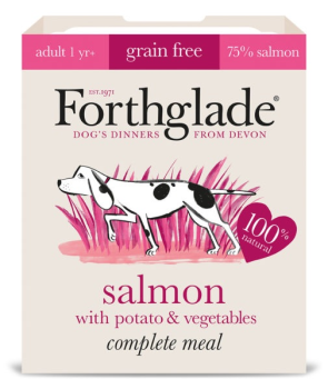 Forthglade Complete Meal Grain Free Salmon with potato & vegetables 7 x 395g