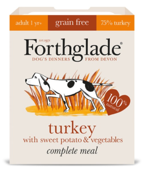 Forthglade Complete Meal Grain Free Turkey with sweet potato & vegetables 7 x 395g