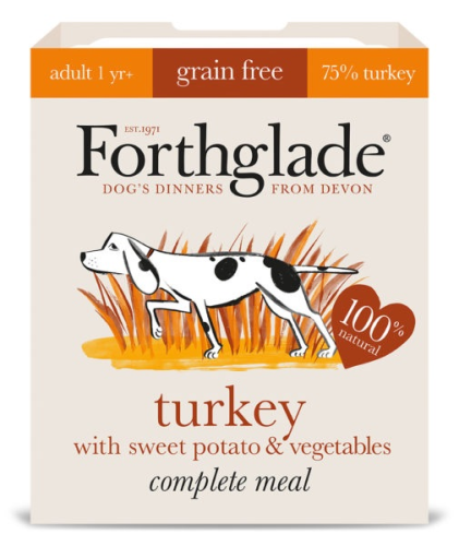Forthglade Complete Meal Grain Free Turkey with sweet potato & vegetables 7
