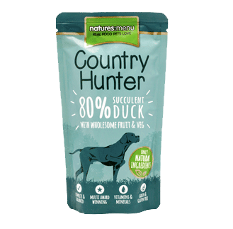 Natures Menu Country Hunter Duck Pouches Dog Food 6 x 150g